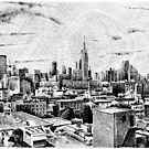 Fingerprint - New York - Black ink by nicolasjolly