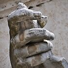 Hand, river god Nile statue, Rome, Italy by buttonpresser