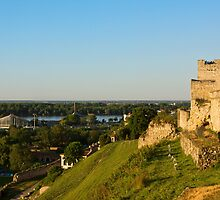 Belgrade panoramic view toward Danube river by kirilart