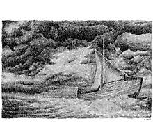 Fingerprint - Sailing - Black ink Photographic Print