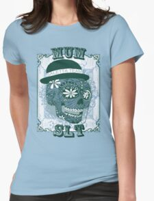 MUM VINTAGE SKULL T-SHIRT Womens Fitted T-Shirt