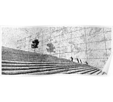 Fingerprint - Stairway - Black ink Poster