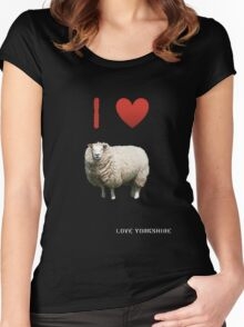I Love Sheep - Love Yorkshire Women's Fitted Scoop T-Shirt