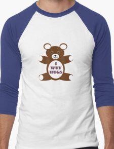 I wuv hugs Men's Baseball ¾ T-Shirt