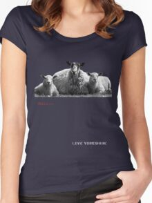 Chilled Sheep - Love Yorkshire Women's Fitted Scoop T-Shirt