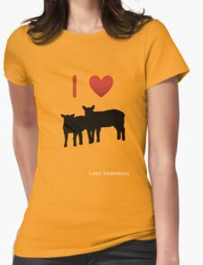 Love Lamb - Love Yorkshire - Silhouette  Womens Fitted T-Shirt