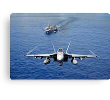 An F/A-18 Hornet demonstrates air power. Canvas Print