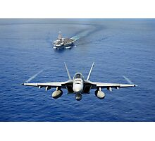 An F/A-18 Hornet demonstrates air power. Photographic Print