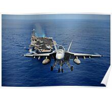 An F/A-18 Hornet demonstrates air power. Poster