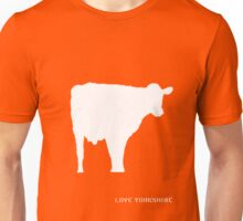White Cow - Silhouette Unisex T-Shirt