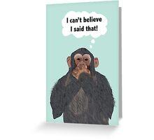 Chimpanzee Apology Card, Speak no Evil Card Greeting Card