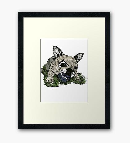 MUM DOG#03 T-SHIRT Framed Print