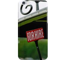 Taxi for hire iPhone Case/Skin
