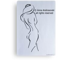 Sketch of a Nude Woman Canvas Print