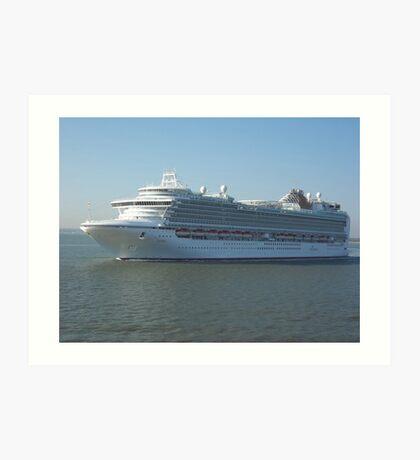 Azura P&O Cruise liner Art Print