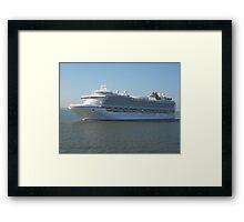Azura P&O Cruise liner Framed Print