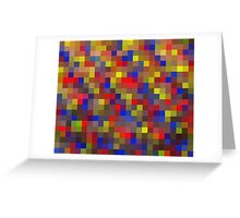 Pixel Love - Abstract Digital Art Print Greeting Card