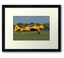 North American Harvard (Navy Colours) Framed Print