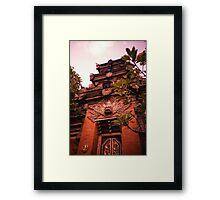 Temple - Lomo Framed Print