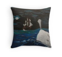 Moby Dick - Fateful Night Throw Pillow