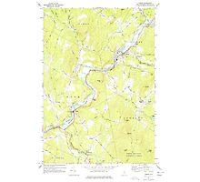 USGS TOPO Map New Hampshire NH Lisbon 329627 1967 24000 Photographic Print