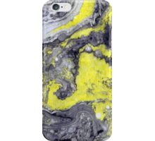 marbled blueyellow iPhone Case/Skin