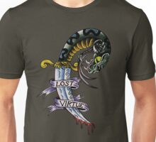 Lost Virtue Snake Dagger Tattoo Art Unisex T-Shirt