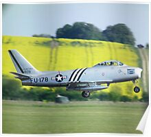 North American F-86A Sabre on take off Poster