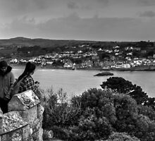 View Across To Marazion Cornwall From St Michael's Mount by Ian Mooney