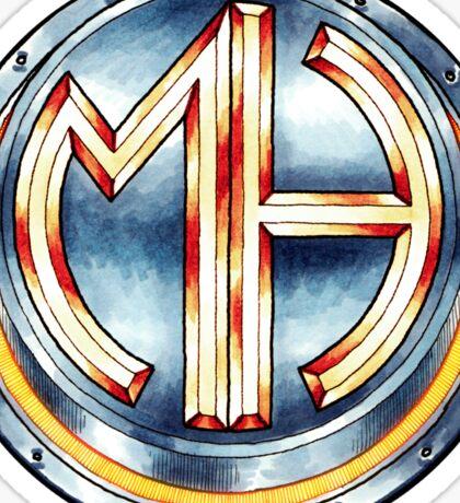 Mars Hotel Steelbutton-Logo Sticker