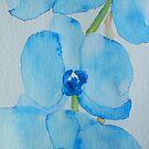 Blue Orchids by Deborah Pass