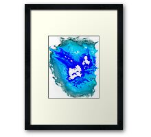 blue and white Phoenix Framed Print