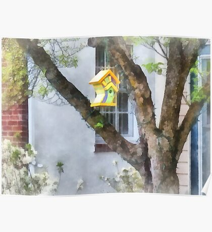 Crooked Bird House Poster