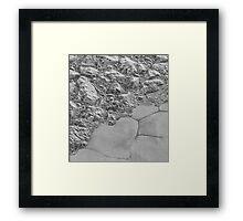 The Mountainous Shoreline of Sputnik Planum Framed Print
