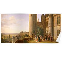 Joan of Arc's arrival at castle of Loches to meet with Charles VII in 1429, Alexandre Millin du Perreux (1764-1843) Poster
