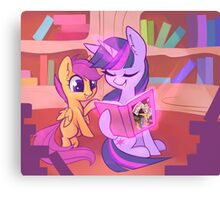 Reading with the Princess Canvas Print