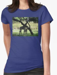 Parent and Child Giraffe 1 Womens Fitted T-Shirt