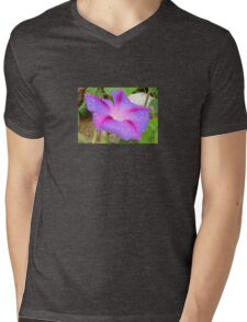 Mauve and Magenta Morning Glory with Water Drops Mens V-Neck T-Shirt