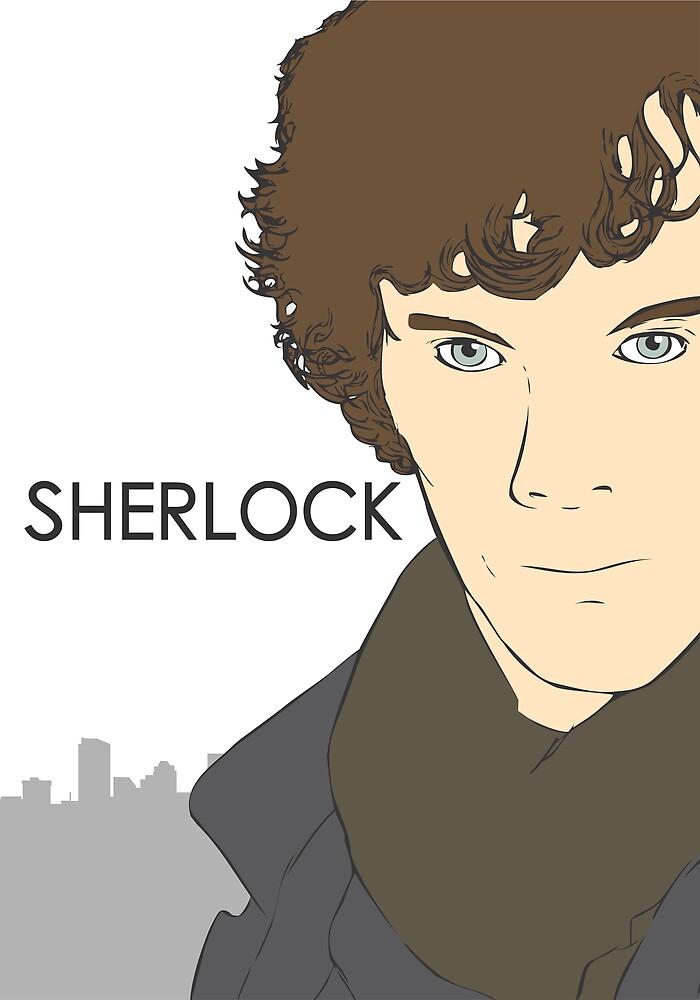 Sherlock- Benedict Cumberbatch by Warren Evans