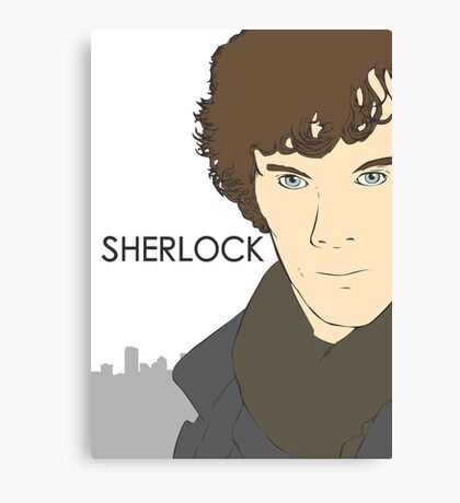 Sherlock- Benedict Cumberbatch Canvas Print