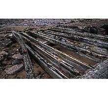 Derelict Boat Slipway Photographic Print