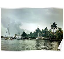 All quiet along the Intracoastal Waterway Poster