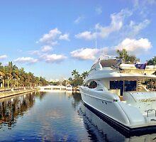 The yachts along Las Olas by Tropical Sun