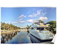 The yachts along Las Olas Poster