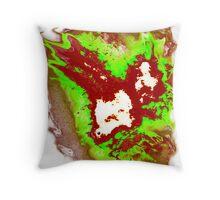 Radioactive SPACE! Phoenix Alien Throw Pillow