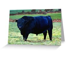 Black Bull in Beausang's Field Greeting Card