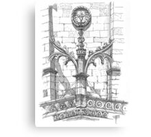 flying buttress .  Canvas Print
