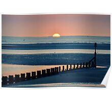 Sunrise over Spurn Point Poster