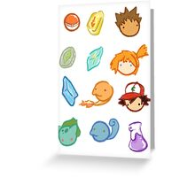Kanto Stickers Greeting Card