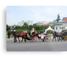 Austria - horse and buggy ride Metal Print